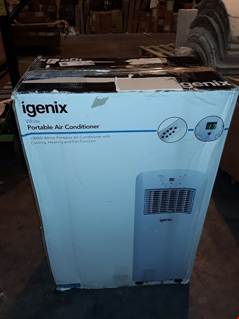 Lot 1050 IGENIX 1000W PORTABLE AIR CONDITIONER WHITE