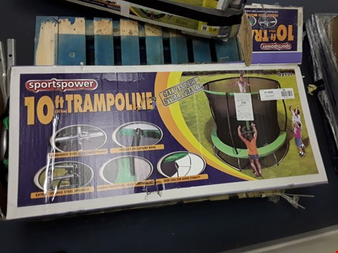 Lot 48 BOXED SPORTSPOWER 10 FT TRAMPOLINE