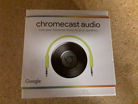 Lot 8062 BOXED GOOGLE CHROMECAST AUDIO