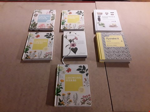 Lot 469 LOT OF APPROXIMATELY 7 ASSORTED GARDENING AND HOME DESIGN BOOKS TO INCLUDE THE ROYAL HORTICULTURAL SOCIETY TREASURY OF GARDEN WRITING SELECTED BY CHARLES ELLIOT, SUSTAINABLE HOME BY CHRISTINE LIU ETC