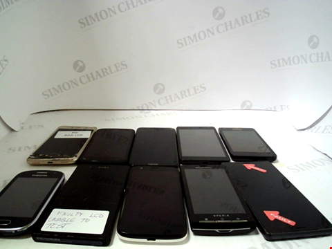 Lot 652 LOT OF APPROXIMATLEY 10 ASSORTED MOBILE PHONES AND SMARTPHONES ETC