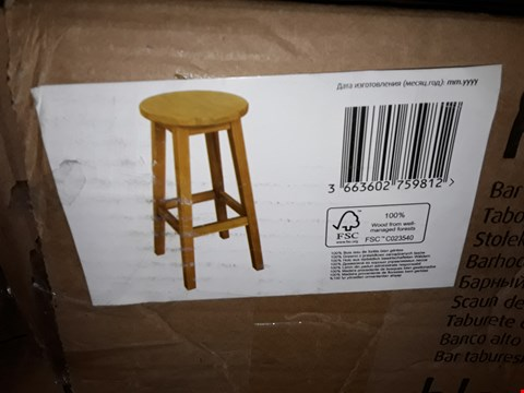 Lot 3037 BOXED WOODEN BAR STOOL RRP £45