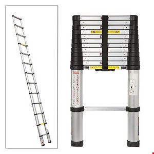 Lot 1065 SPEAR AND JACKSON TELESCOPIC 3.8M LADDER