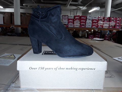 Lot 1296 LOT OF 2 CUSHION WALK SUEDETTE HEELED TIE ANKLE BOOTS SIZES 3 AND 7