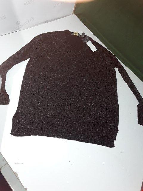 Lot 1267 LOT OF APPROXIMATELY 7 ASSORTED SIZE AND COLOUR RUTH LANGSFORD GLITTERY JUMPERS