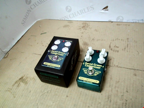 Lot 13759 BOXED MAD PROFESSOR FOREST GREEN COMPRESSOR EFFECTS PEDAL