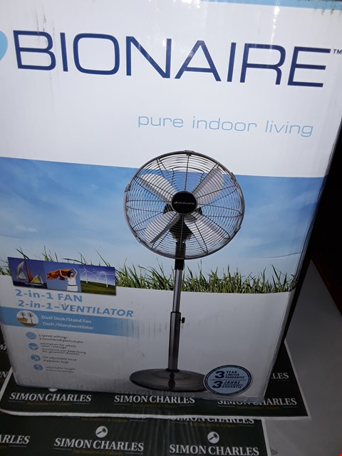Lot 7514 BRAND NEW BOXED BIONAIRE BASF1516 DESK AND STAND FAN RRP £99.99