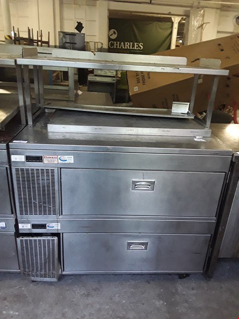 Lot 43 ADANDE COMMERCIAL REFRIGERATION UNIT WITH MICROWAVE SHELF