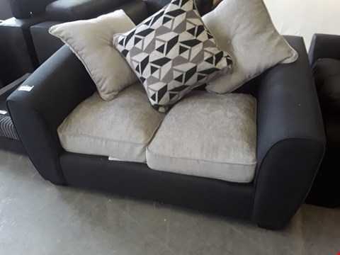 Lot 188 DESIGNER TWO SEATER SOFA WITH SCATTER CUSHIONS