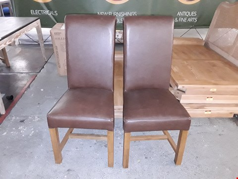 Lot 287 PAIR OF CHICAGO EASTWOOD SANDLE WOOD CHAIRS