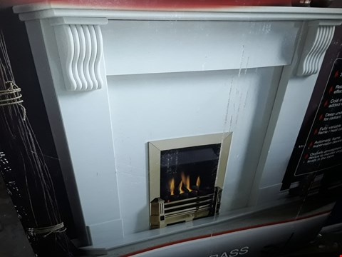 Lot 3064 DIMPLEX WHITSBURY BRASS INSET GAS FIRE RRP £296