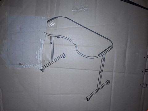 Lot 1160 NRS HEALTHCARE M99394 ADJUSTABLE CURVED OVER BED/CHAIR TABLE WITH LOCKABLE CASTORS