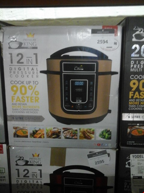 Lot 44 BOXED PRESSURE KING PRO 5L 12-IN-1 DIGITAL PRESSURE COOKER RRP £69.99