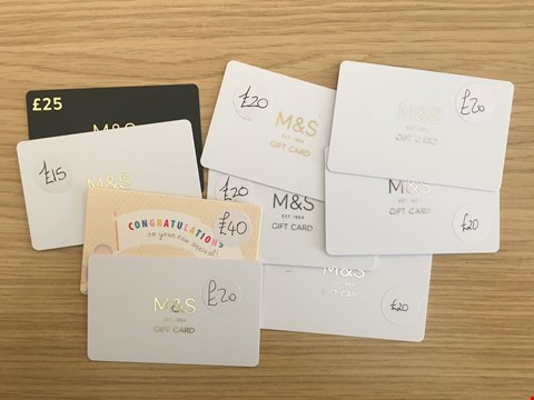 Lot 27 9 MARKS & SPENCER VOUCHERS.  TOTAL VALUE £200