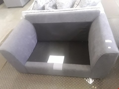 Lot 2026 DESIGNER GREY FABRIC COMPACT TWO SEATER SOFA