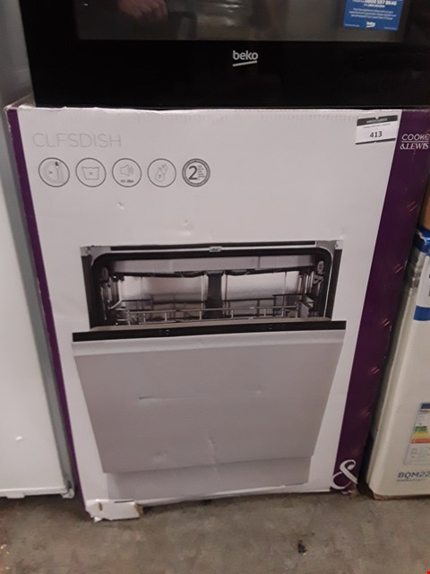Lot 413 COOKE & LEWIS CLFDISH INTEGRATED FULL SIZE DISHWASHER