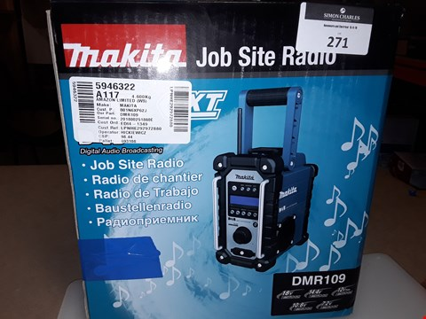 Lot 271 MAKITA DMR109 JOB SITE RADIO DAB