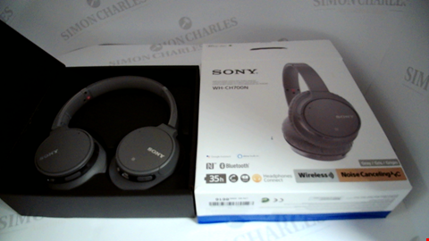 Lot 17055 SONY WH-CH700N WIRELESS BLUETOOTH NOISE CANCELLING HEADPHONES - GREY