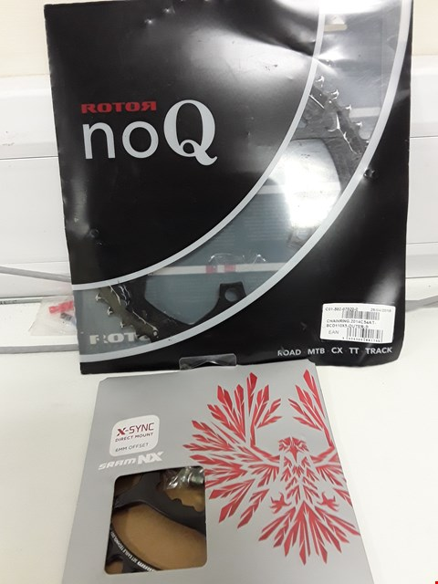 Lot 101 TWO CYCLE ITEMS, ROTOR NOQ CHAINRING & X-SYNC DIRECT MOUNT 6mm OFFSET 30T CHAINRING
