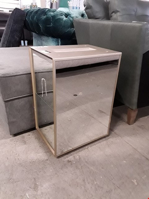 Lot 127 DESIGNER MIRRORED TWO DRAWER BEDSIDE CHEST