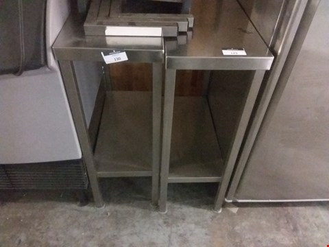 Lot 18 COMMERCIAL STAINLESS STEEL SMALL WORK TABLE