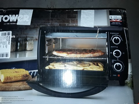 Lot 10134 TOWER T14012 MINI OVEN AND GRILL, 23 L, 1500 W, BLACK