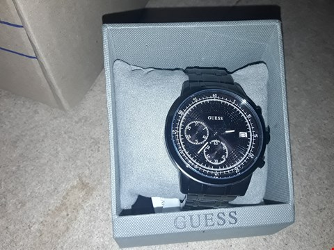 Lot 9233 GRADE 1 GUESS SUMMIT BLACK IP MULTIDIAL MENS WATCH RRP £239.00