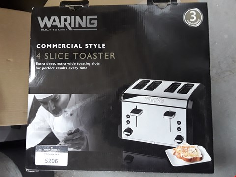 Lot 5206 BOXED WARING COMMERCIAL STYLE 4 SLOT TOASTER
