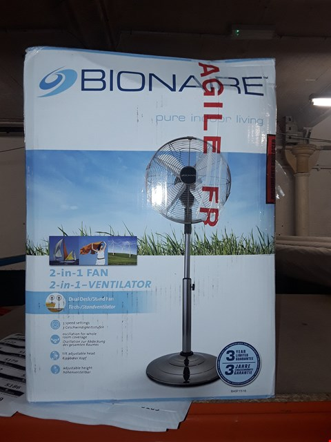 Lot 5075 BRAND NEW BOXED BIONAIRE BASF1516 DESK AND STAND FAN RRP £99.99