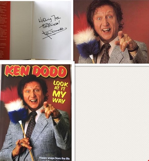 Lot 14 SIGNED COPY OF SIR KEN DODD 'LOOK AT IT MY WAY' HARDCOVER BOOK