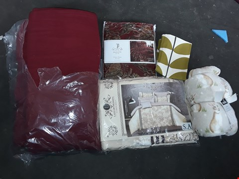 Lot 2566 BOX OF ASSORTED CUSHION COVERS, BED COVERS, BLANKETS
