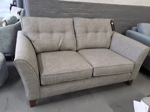 Lot 365 QUALITY BRITISH DESIGNER MELODY 2.5 SEATER SOFA UPHOLSTERED IN CHUNKY WEAVE WILD TYME FABRIC RRP £1299