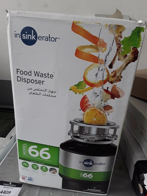 Lot 92 BOXED INSINKERATOR FOOD WASTE DISPOSER Model 66 RRP £140
