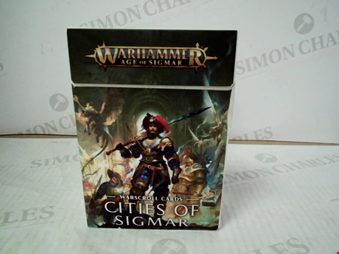 "Lot 3126 WARHAMMER AGE OF SIGMAR ""CITIES OF SIGMAR"" WARSCROLL CARDS"