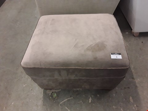 Lot 4 QUALITY BRITISH DESIGNER MINK FABRIC STORAGE FOOTSTOOL