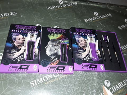 Lot 1078 LOT OF 3 PACKS OF RED DRAGON SNAKEBITE PETER WRIGHT DARTS