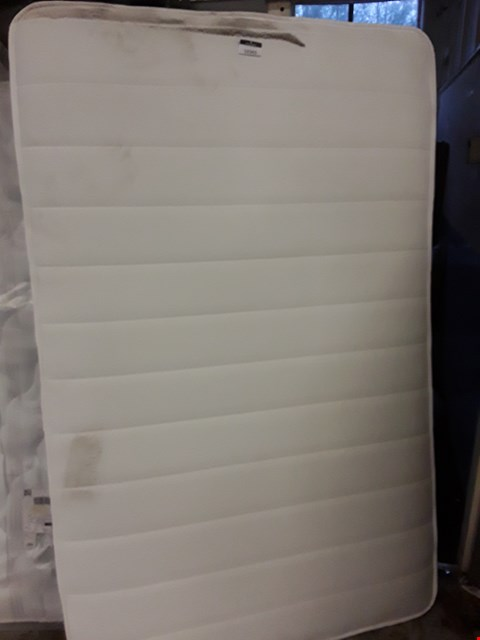 Lot 12163 UNBAGGED 4'SMALL DOUBLE MATTRESS