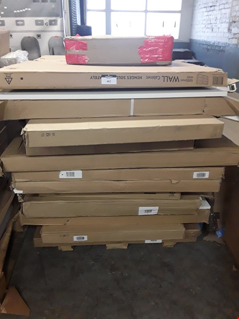 Lot 482 PALLET OF ASSORTED FLAT PACK KITCHEN UNITS