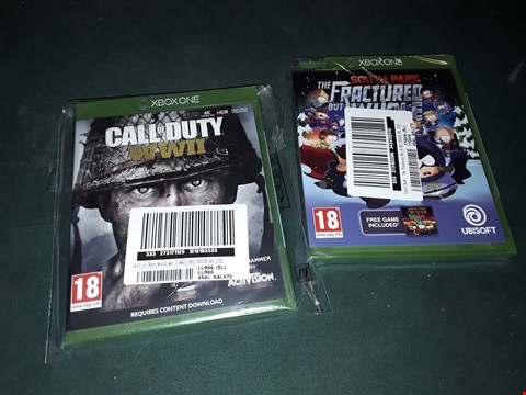 Lot 7180 BRAND NEW XBOX ONE CALL OF DUTY WWII AND SOUTH PARK THE FRACTURED BUT WHOLE GAMES  RRP £99