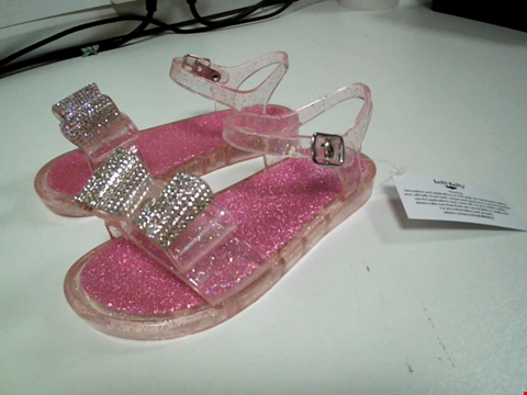 Lot 3530 BRAND NEW LELLI KELLY GIRLS BOW JELLY SANDAL - PINK SIZE 9 YEARS