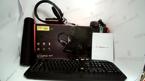 Lot 7525 LOT OF 3 BLACKWEB PRODUCTS TO INCLUDE BOOM BLOCK WATER-RESISTANT PORTABLE BLUETOOTH SPEAKER AND 2X 4-IN-1 GAMING KITS