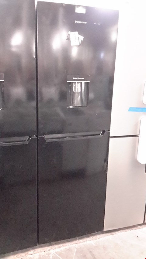 Lot 70 HISENSE BLACK RB320D4WB1 FRIDGE FREEZER WITH WATER DISPENSER  RRP £249