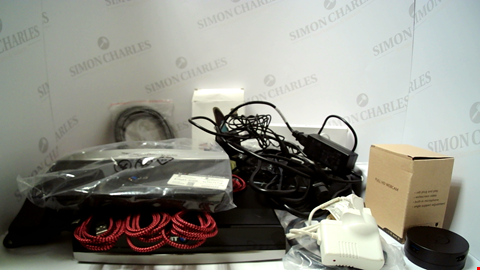 Lot 18106 LOT OF APPROXIMATELY 22 ASSORTED ITEMS TO INCLUDE ROUTERS, CABLES ETC