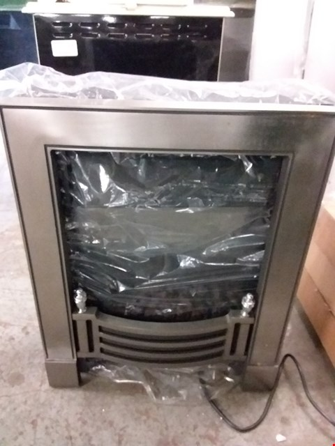 Lot 2175 FOCAL POINT LED INSET STOVE IN BLACK - NDY19CR