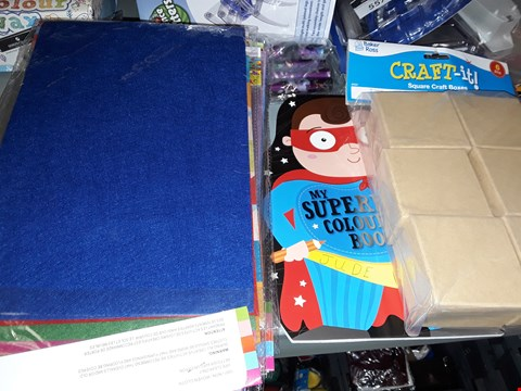 Lot 712 CRAFT ITEMS INCLUDING BOXS ,COLOURING BOOK ,CRAFT FELT SHEETS