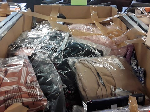 Lot 73 LARGE CAGE OF A SIGNIFICANT QUANTITY OF ASSORTED UNPROCESSED ADULT CLOTHING