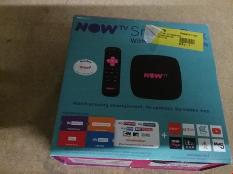 Lot 1545 NOWTV SMART BOX WITH 4K AND VOCE SEARCH