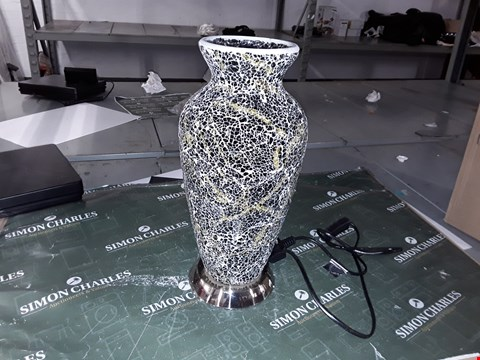 Lot 1112 MOSAIC GLASS VASE TABLE LAMP