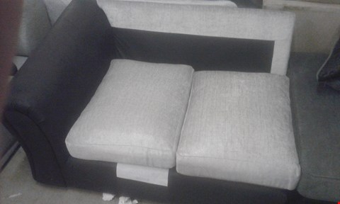 Lot 99 DESIGNER GREY FABRIC SOFA SECTION