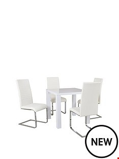Lot 2094 BOXED GRADE 1 ATLANTIC 80X80CM SQUARE GLOSS DINING TABLE WHITE ( 1 BOX )